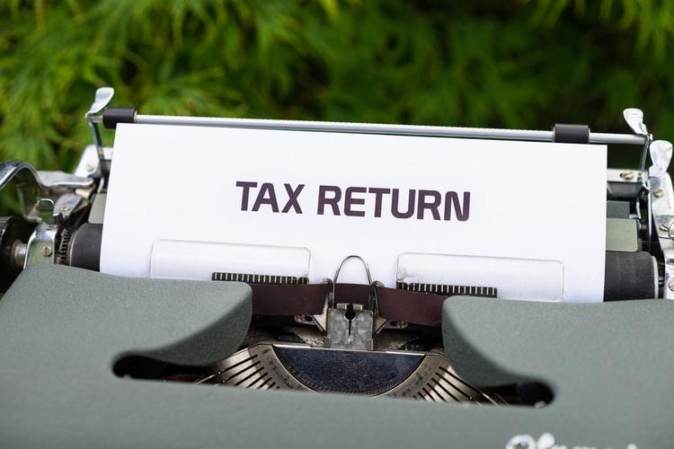 a paper saying tax return